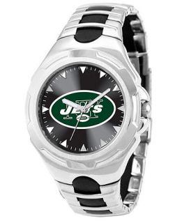 Game Time Watch, Mens New York Jets Black Rubber and Stainless Steel