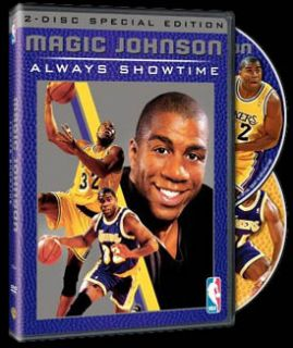 Vintage Magic Johnson L A Lakers 2 DVD Set w 3 Complete Games