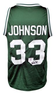 Signed Magic Johnson Custom Jersey   Michigan State Spartans   PSA/DNA