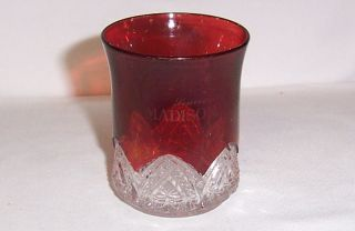EAPG Ruby Flash Souvenir Glass Madison Wisconsin Wi Antique