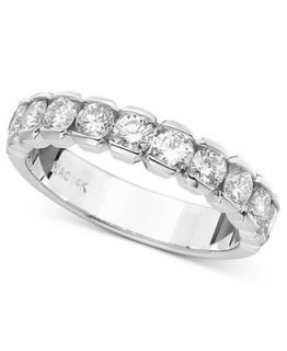 Diamond Ring, 14k White Gold Certified Diamond Band (3/4 ct. tw.)