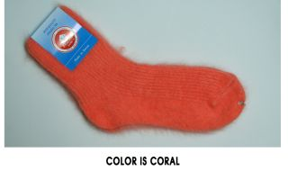 ANGORA 70% SOCKS HIGH QUALITY(CORAL,GREEN,LIGHT VIOLET,VIOLET,GRAY