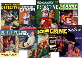 Vint Crime Detective Mystery Pulp Magazines in DVD The Shadow Black