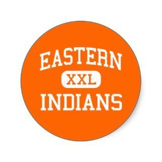 Eastern   Indians   High School   Detroit Michigan Round Sticker