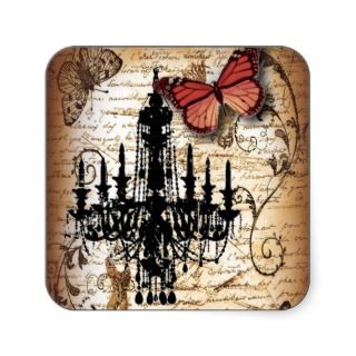 fondo vintage chandelier butterfly fashion stickers