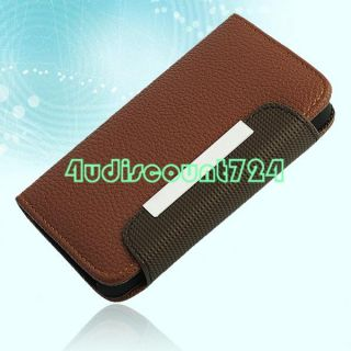 Mobile Phone Flip Magnetic Card Case Wallet Cover Pouch Holder for