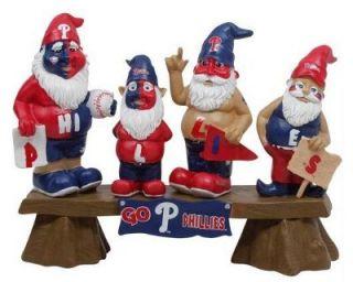 Philadelphia Phillies MLB Baseball Gnome Bench Garden Gnome Statue