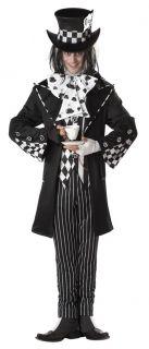 Dark Mad Hatter Alice Wonderland Adult Costume Extra Large 44 46