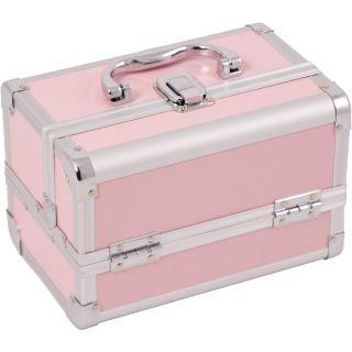 Makeup Accessories Cosmetic Organizer Aluminum Case w Mirror 01