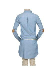 Maison Scotch Soda L s Denim Jean Chambray Long Shirt Dress Jumper