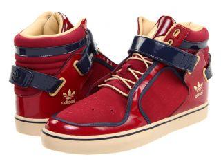 Adidas Adi Rise Cardinal Navy Tan Blend Velcro Strap Mid Originals Men