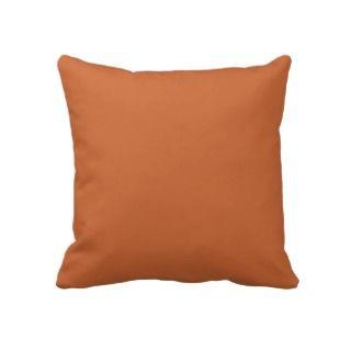 Plain Burnt Orange Throw Pillow