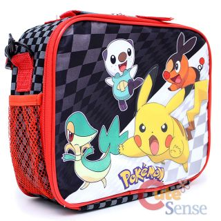 Pokemon Black and White School Large Roller Backpack Lunch Bag Set 6
