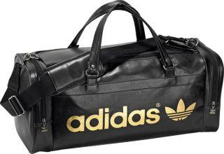 Adidas Originals ADICOLOR AC Teambag Black Gold Large Gym Duffle