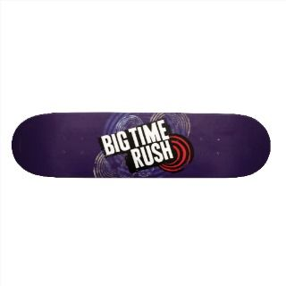 Big Time Rush Logo   Purple Skateboard Deck