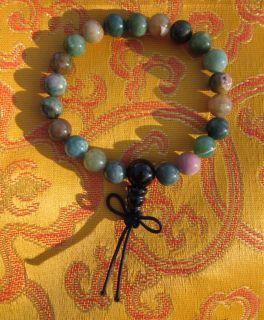Buddhist Healing Fancy Jasper Wrist Mala Heart Chakra USA
