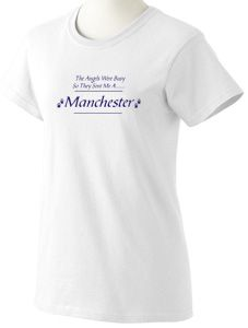 Angels sent Me A Manchester Terrier White T Shirt Ladies Men's s M L