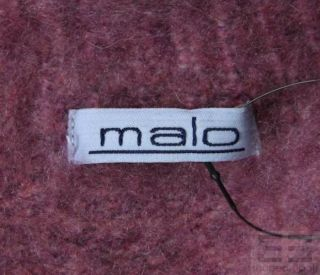 Malo Purple Cashmere Toggle Cardigan Sweater