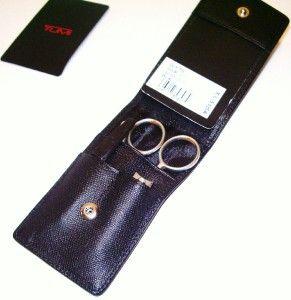 New Tumi Leather Manicure Travel Kit Set Gift $178