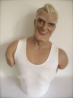 Vintage Original Chesty Bonds Shop Man Mannequin Bust Dummy