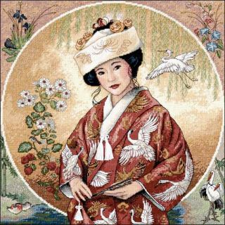 Counted Cross Stitch Kit 12 x 12 Japanese Maiden Sale 35109
