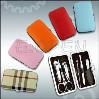 Professional Steel Nail Clippers Manicure Kit Sets Gift