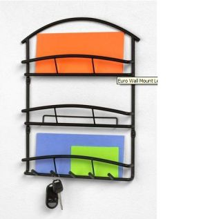 Wall Mount Letter Mail Organizer Key Rack Decor New