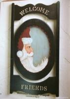 Folk Art Americana Wood Fabric Pattern Paint Book Flag Bunny Santas