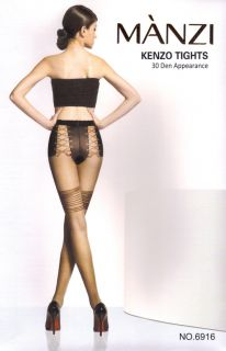 Manzi Corset Style Knickers Quality Sheer Tights 30D H1