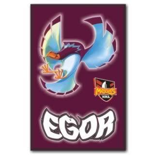 Manly Sea Eagles NRL Team Mascot Fridge Magnet Egor