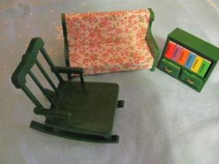 Miniature Furniture Lot Epoch Maple Valley Calico Critters Chair Sofa