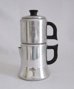 REGAL 6 CUP ALUMINUM TOP POUR MANUAL DRIP COFFEE MAKER WITH PRESS UNIT