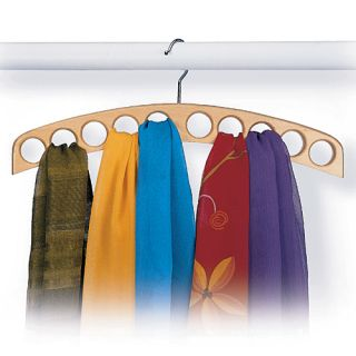 Accessory Hangers Scarf hanger holds 10 or more scarves. Blonde
