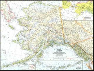 National Geographic Maps of The US from 1958 to Present