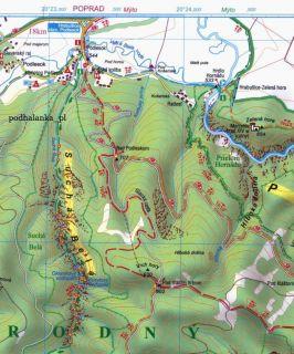 Słowacki Raj Slovenský Raj Mapa Turystyczna