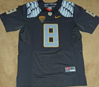Marcus Mariota Oregon Ducks 2012 Black 8 Nike Football Jersey
