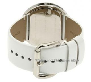 Marc Jacobs Black White Leather Ladies Watch MBM2038