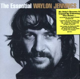 Waylon Jennings The Essential Waylon Jennings SEALED 42 Track Two Disc