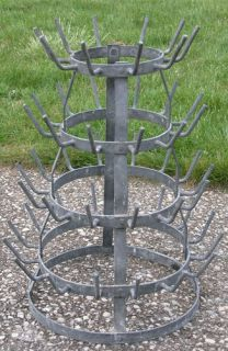 Antique French Wine Bottle Drying Rack Vintage Cottage