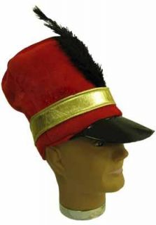 SW9742 Marching Band Soldier Costume Hat Red w Feather