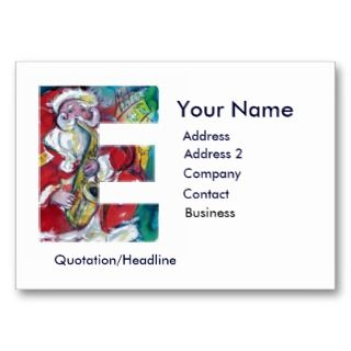 LETTER / SANTA CLAUS WITH SAX BUSINESS CARD TEMPLATE