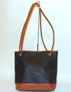 BOTTEGA VENETA Vintage Marco Polo Black Bucket Bag Purse Handbag Tote