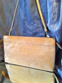 Vintage Phillippe Glazed Leather Purse Envelope Clutch Shoulder Bag