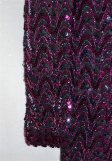 Vintage 1970 Lilli Diamond Dress Covered In Metallic Pink & Purple