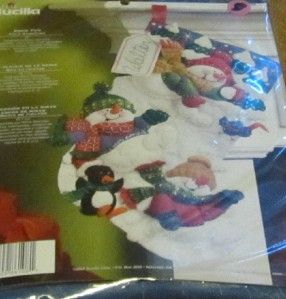 Plaid Bucilla Snow Fun Felt Stocking Kit 18 New in Package 86108 2008