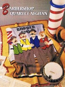 Barbershop Quartet Annies Attic Crochet Afghan Pattern Instructions