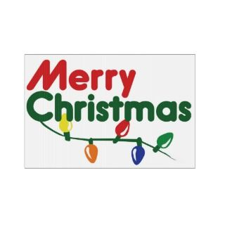Merry Christmas Festive Lights Lawn Sign