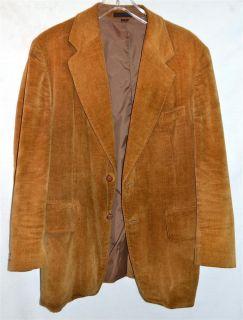 Vintage Jack Daniels Golden Brown Mens Cotton Corduroy Blazer Sport