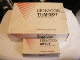 Kenwood TKM 307 VHF Marine Radio w MFB 1 Mounting Bracket Complete