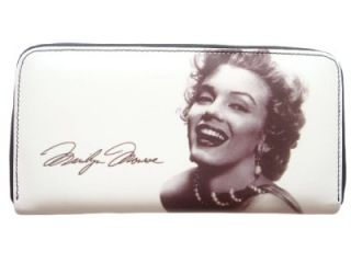 Marilyn Monroe Signature Money ID Card Holder White Travel Wallet